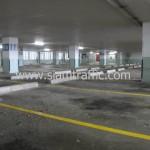 งานตีเส้นอาคารจอดรถธนาคารกสิกรไทยสำนักงานใหญ่ด้วยสีเทอร์โมพลาสติก