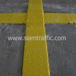 สีตีเส้นชนิดสีเทอร์โมพลาสติกสีเหลือง