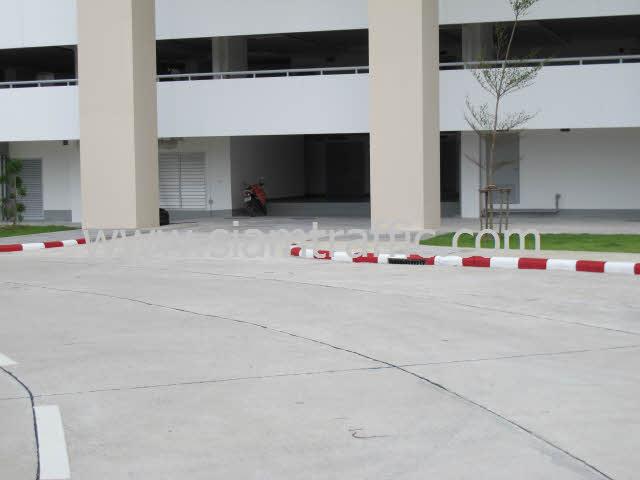 Traffic Paint สีขาวสลับสีแดงที่ฟุตบาท
