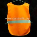 เสื้อกั๊กเซฟตี้สีส้มด้านหลัง