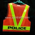 เสื้อเซฟตี้ด้านหลังสกรีน POLICE