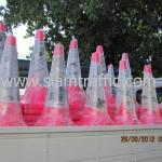 กรวยสีชมพูขนาดสูง 1 เมตรแพ็คมัดละ 10 ใบ