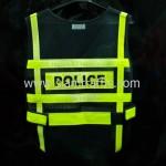 เสื้อเซฟตี้สะท้อนแสงสภ.อ. หลังสวนด้านหน้า POLICE ด้านหลัง