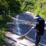 ทำความสะอาดพื้นผิวถนนก่อนลงน้ำยาไพรเมอร์