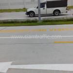 ทาสีถนน และตีเส้นจราจรลูกศร บริษัท โตโยโบะ เคมิคอลส์ (ไทยแลนด์) จำกัด