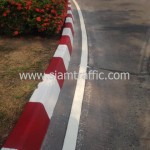 ตีเส้นถนน และทาสีขอบทางโรงงานโค้กปทุมธานี