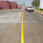 ตีเส้นถนน บริษัท ไทยน้ำทิพย์ จำกัด โรงงานโค้ก ปทุมธานี คลอง 13