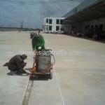 Road marking at DHL Bangna km.23