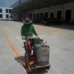 Line marking at DHL Bangna km.23