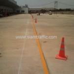 Road line marking at DHL Bangna km.23