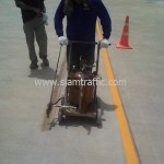 Thermoplastic road line marking at DHL Bangna km.23