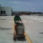 Thermoplastic line marking at DHL Bangna km.23