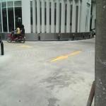 รับตีเส้นถนน โรงแรมจอลลี่สวีทแอนด์สปา ถนนเพชรเกษม