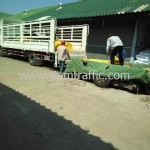 สีทาเส้นจราจรส่งออกไปประเทศกัมพูชา