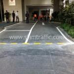 งานตีเส้นจราจร โรงแรมศิวาเทล กรุงเทพ ถนนวิทยุ