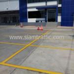 รับเหมาตีเส้นจราจร WHA Mega Logistic Center บางพลี