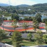 Plastic road barrier private go kart track in Phuket