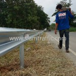 gaurd rails แขวงทางหลวงสุโขทัย กรมทางหลวง