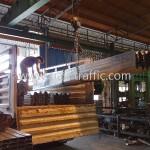 w-beam guardrail จำนวน 400 แผ่น ส่งไปจังหวัดแม่ฮ่องสอน