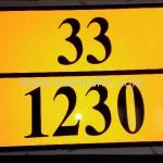 """ป้ายอักษร """"33/1230"""" สะท้อนแสง"""