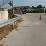 guardrail จำนวน 416 แผ่น ติดตั้งที่จังหวัดชลบุรี