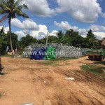 Guard rail installation in Cambodia Improvement of National Road 56 (NR56)