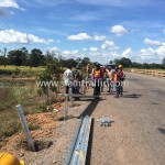 Guard rail installation from Sisophon km.29+000 to Samrong Cambodia