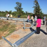 Steel Guard Rail installation from Sisophon km.29+000 to Samrong Cambodia (NR56)