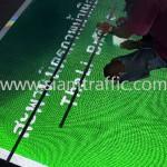 ป้ายบอกทางสะท้อนแสง สะพานมิตรภาพน้ำเหืองไทย-ลาว ท่าลี่ เชียงคาน