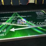 ป้ายจราจรบอกทาง สะพานมิตรภาพน้ำเหืองไทย-ลาว ท่าลี่ เชียงคาน
