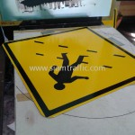 Pedestrain Crossing W1-34 Cambodia Sign