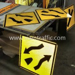 Cambodia Traffic Sign W1-45 and W1-46