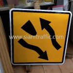 Cambodia Traffic Sign W1-45 and W1-46 Improvement of National Road 56