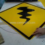 Cambodia Traffic Warning Sign Winding Road W1-06
