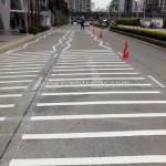เส้นจราจรซิกแซก Unilever Building ถนนพระราม 9