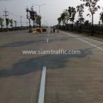 เส้นถนนสีขาว นิคมอุตสาหกรรมเอเซีย สุวรรณภูมิ
