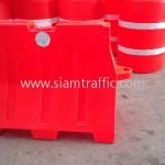 Plastic water filled barrier Lampang City Municipality