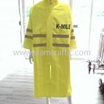เสื้อคลุมสะท้อนแสง สกรีนข้อความ K-MILE