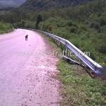 guard rail fence ทางหลวงหมายเลข 3337 ตอนควบคุม 0100 ตอนห้วยชินสีห์ - หินสี
