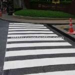 ตีเส้นถนน โรงแรมแชงกรี-ลา กรุงเทพฯ