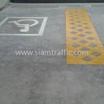 เส้น จราจร สี เหลือง MKY TRAINING CENTER ถนนกรุงเทพกรีฑา