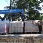 หมุดติดถนน 3m กรวยจราจร ไฟกระพริบ ลูกแก้ว 360 องศา ส่งออกไปประเทศกัมพูชา