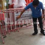 แผงเหล็กกั้นจราจร การไฟฟ้าฝ่ายผลิตแห่งประเทศไทย หรปม-ฟ. C001----C100