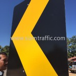 Road Sign Installation at Sisophon to Samrong Cambodia