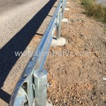 Installation guardrail at Cambodia Northwest Provincial Road Improvement Project NR56