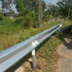 guardrails แขวงทางหลวงตราด W-BEAM GUARDRAIL CLASS I TYPE II ปริมาณงาน 1,100 เมตร