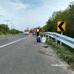 w-beam guardrails แขวงทางหลวงฉะเชิงเทรา ทางหลวงหมายเลข 3