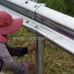 guard rail แขวงทางหลวงฉะเชิงเทรา ปริมาณงาน 1,152 เมตร