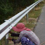 w beam guard rail แขวงทางหลวงฉะเชิงเทรา ปริมาณงาน 1,152 เมตร