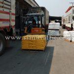 เทอร์โมพลาสติก สีขาว 950 ถุง สีเหลือง 450 ถุง ส่งออกไปประเทศกัมพูชา